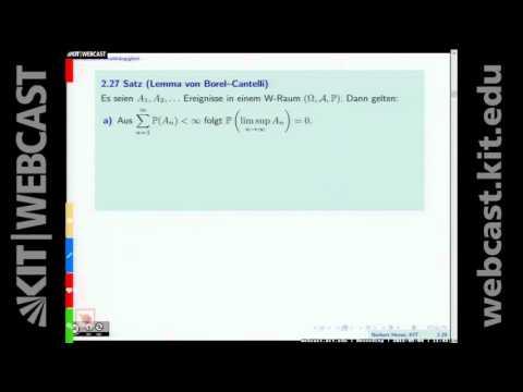 05: Lemma von Borel-Cantelli, Faltungen, fast sichere und stochastische Konvergenz