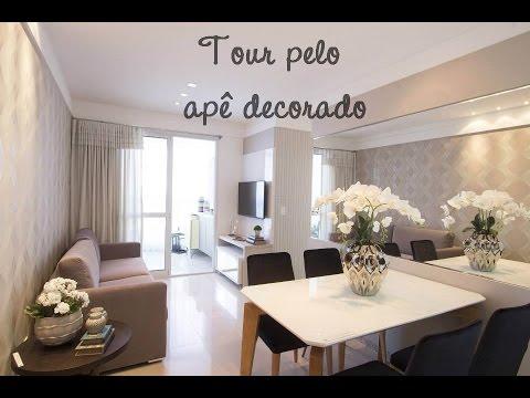 Tour pelo ap decorado comprando apartamento na youtube for Apartamentos decorados pequenos