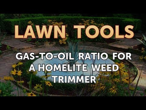Gas To Oil Ratio For A Homelite Weed Trimmer