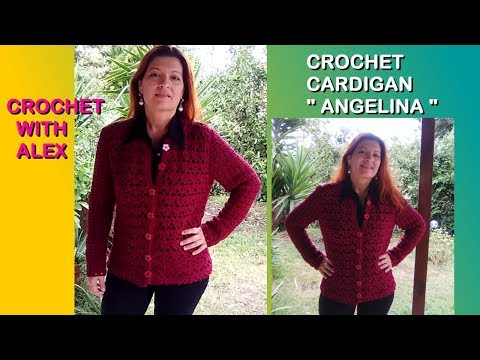 CROCHET CARDIGAN ANGELINA any size tutorial EASY FOR BEGINNERS Alex Crochet