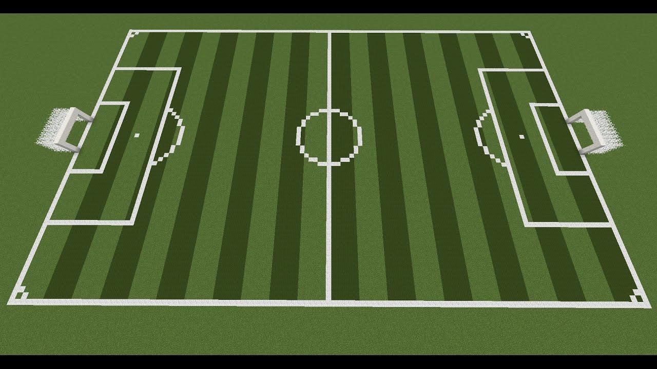 minecraft soccer field full tutorial youtube