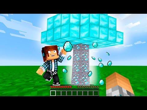 ENCONTREI A ÁRVORE DE DIAMANTE SECRETA !! - Minecraft