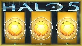 Halo 5 REQ Pack Opening! Legendary Stuff! (Halo 5 Warzone Premium & Gold Packs)