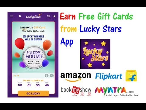 Earn Free Gift Cards By Watching Ads From Lucky Stars App Youtube