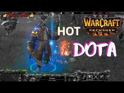 Warcraft 3 Reforged:  DOTA - Kunkka (the Admiral) Skills !!!