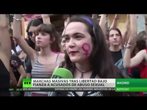 RT en Español: 'No es abuso, es violación': Protestas en toda España contra la libertad provisional de 'La Manada'