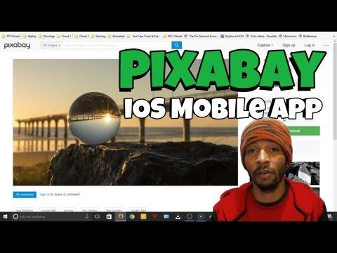 Pixabay iOS Mobile App (Walkthrough) - Public Domain CC0 1.0