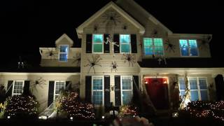 our haunted halloween house with spiders skeletons atmosfearfx atmosfx digital decorations rafs 2016