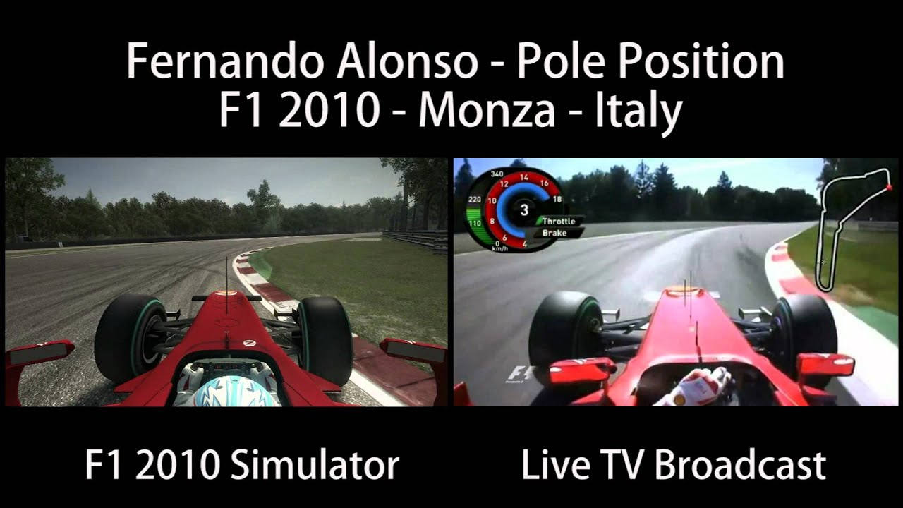 Fernando Alonso Monza Italy [Pole Position Onboard] F1 2010 Gameplay x Live  TV HD