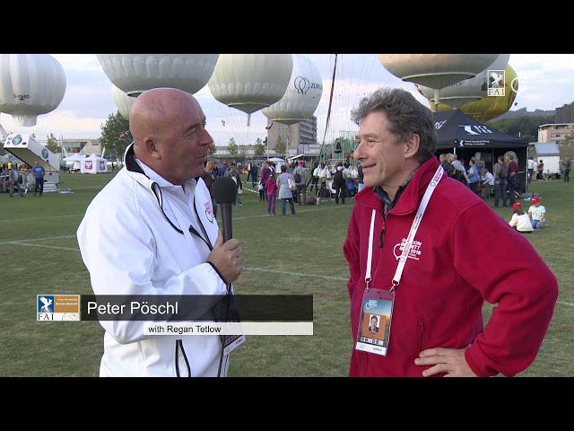 REPLAY - Coupe Aéronautique Gordon Bennett 2018 - Interview Peter Pöschl