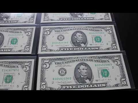 Old Dollar Bills. Museum Like Quality.