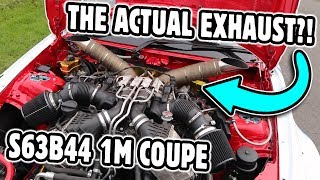 Shortest exhaust I've ever seen! S63B44 BMW 1M Coupe