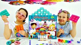 Игры для девочек. ШОКОЛАДНАЯ ФАБРИКА. Шоколад - Как сделать? Настя, Ксюша и Сладкая жизнь