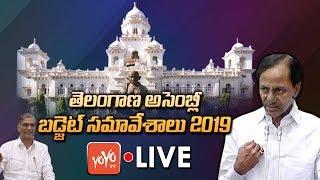 Telangana Assembly LIVE | Telangana Assembly Budget Session 2019 | Harish Rao | KCR | YOYO TV LIVE