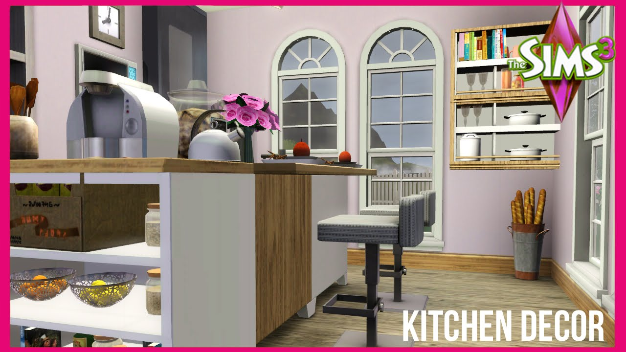 The sims 3 the baseline kitchen decor youtube for Sims 3 kitchen designs
