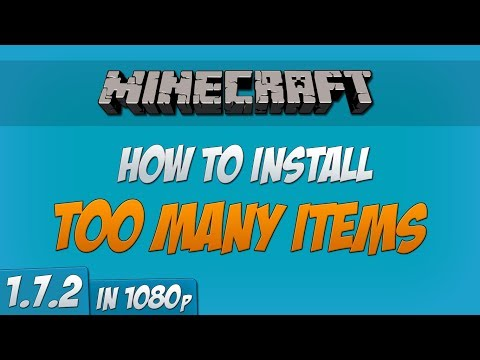 Minecraft 1.7.2 - How to install Too Many Items mod (Forge) (1080p)