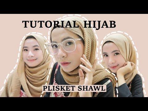 4 Tutorial Hijab Plisket Pleated Shawl Pashmina - YouTube