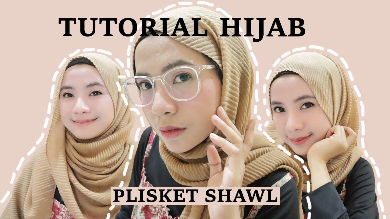 4 Tutorial Hijab Plisket Pleated Shawl Pashmina Youtube