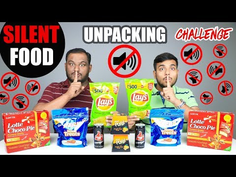 SILENT FOOD UNPACKING CHALLENGE | Food Eating Challenge | Food Eating Competition | Food Challenge