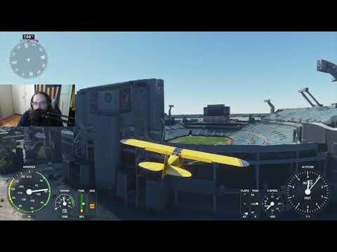 Landing in the Gator Bowl, Jacksonville, FL with Microsoft Flight Simulator