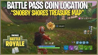 "Fortnite: ""Follow the Treasure Map In Snobby Shores"" Challenge Tutorial "" (New Battle Pass Coin)"