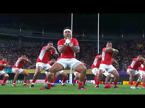 Tonga Perform Fierce Sipi Tau At Rugby World Cup 2019