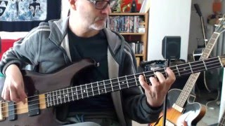 Ian Dury - Sex & Drugs & Rock & Roll (Bass cover / play along)