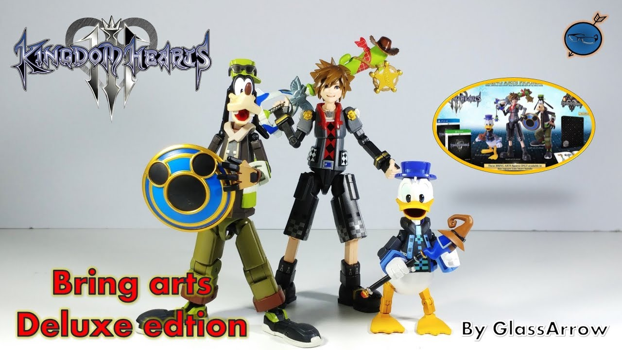 kingdom hearts iii deluxe edition + bring arts figures unboxing