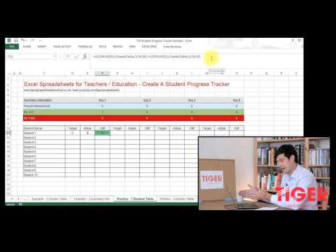 Excel for Teachers: Student Progress Tracker Part 1 of 3 - Convert Grades to Numbers Using VLOOKUP