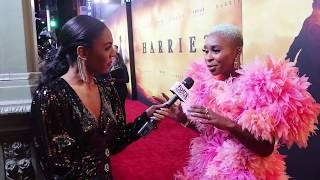 Cynthia Erivo On Listening to God at HARRIET - LA Red Carpet Premiere
