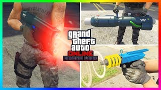 GTA 5 Online - NEW WEAPONS! Up-N-Atomizer, Unholy Hellbringer & Widowmaker! (GTA 5 DLC)