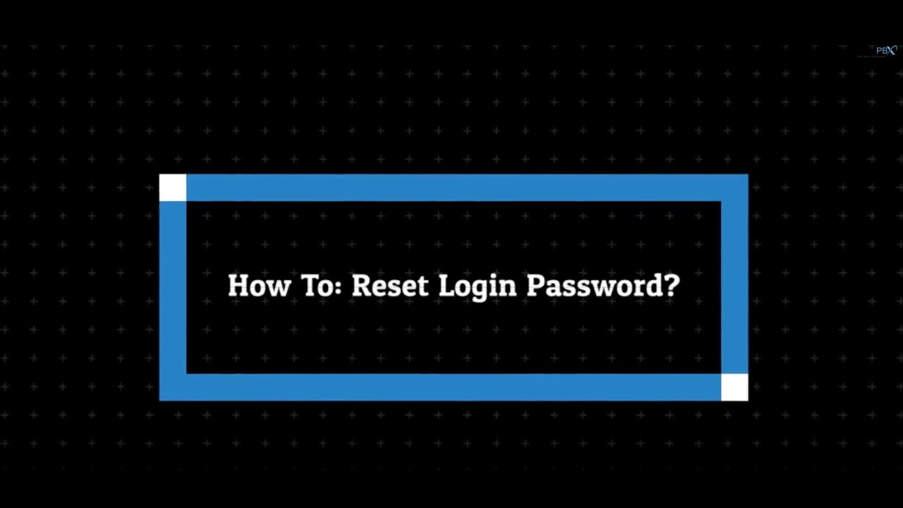How To Reset Login Password On MyPBX Portal | The Real PBX