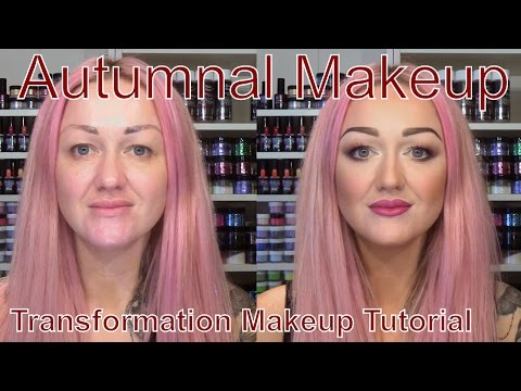 Autumnal Makeup Transformation - Illamasqua - Maybelline - Revlon - NYX - Sleek Makeup Tutorial