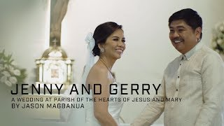 Jenny and Gerry: A Wedding at Parish of the Hearts of Jesus and Mary
