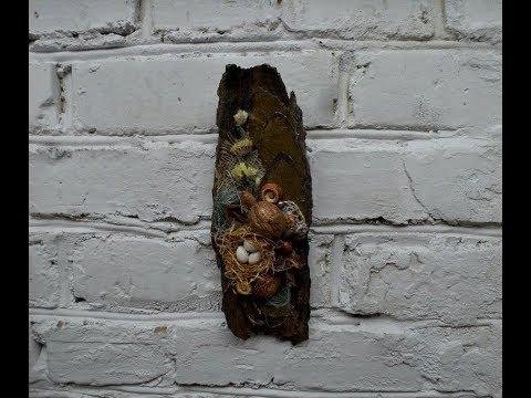 Картины из коры дерева своими руками