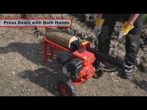 e6f9551f4dec Clarke Log Buster 8 10 Tonne Petrol Log Splitter - YouTube