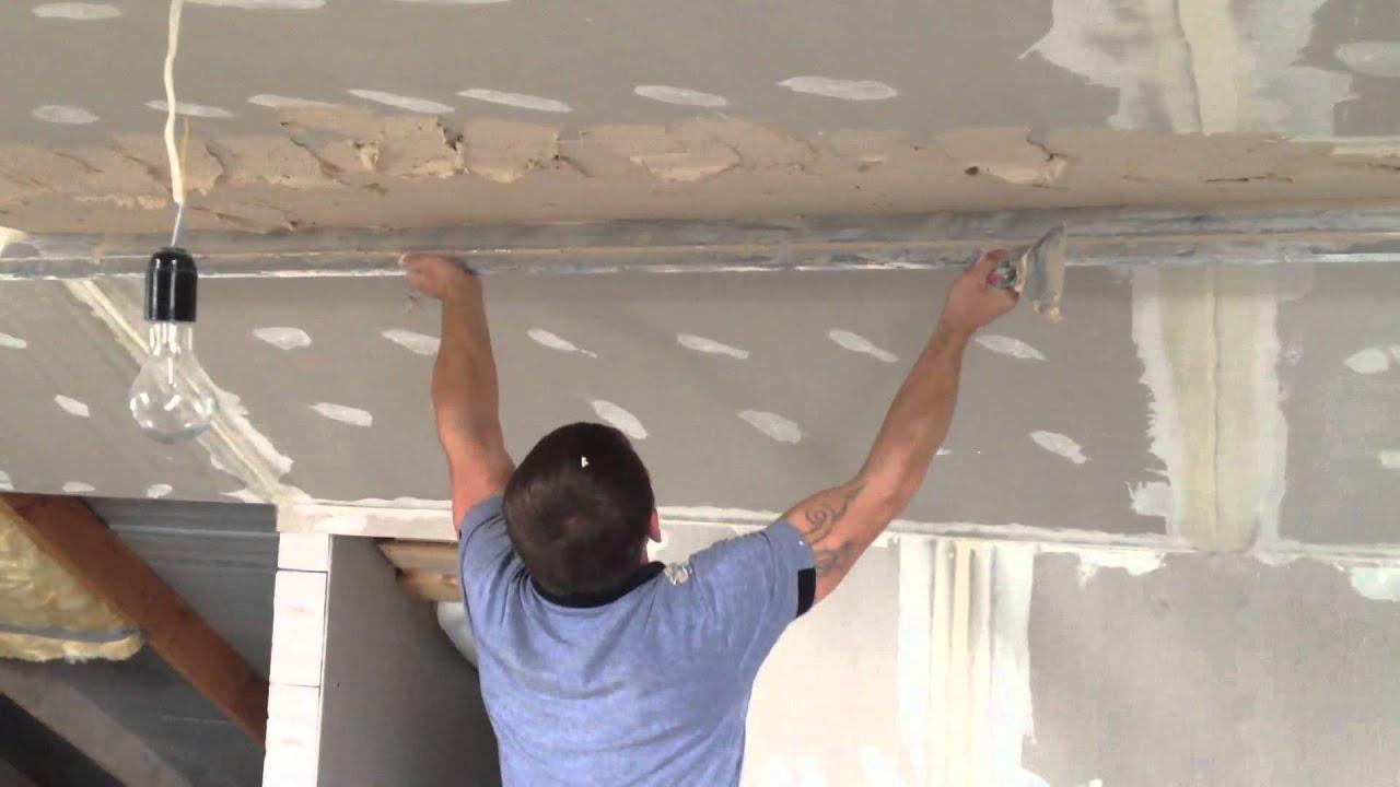 Нанесение шпатлевки на потолок из гипсокартона гидроизоляция гидпотекс-s емкостных подземных железобетонных сооружений при высоком уровн
