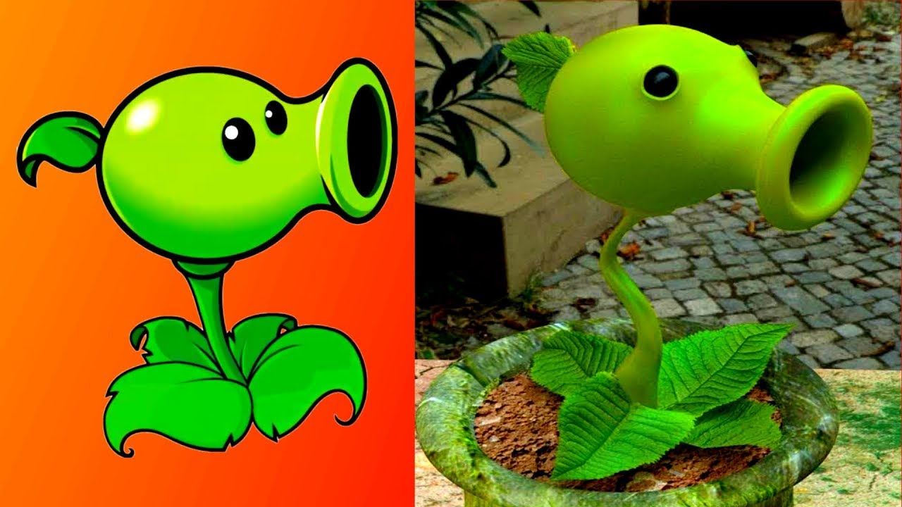 Plants Vs Zombies Characters In Real Life Plantas Contra