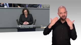 Gebärdensprachvideo: Generalaussprache im Parlament