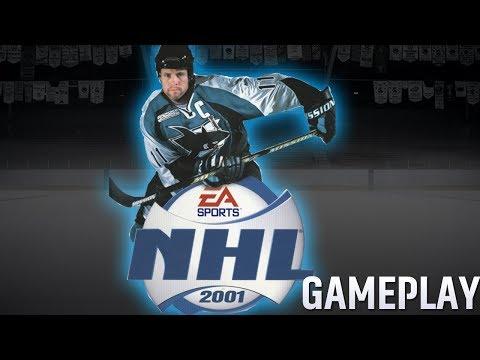NHL 2001 Gameplay on PS1 Emulator - Sens vs Sharks