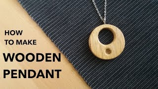 How to make A Wooden Pendant (Amulet) // Woodworking