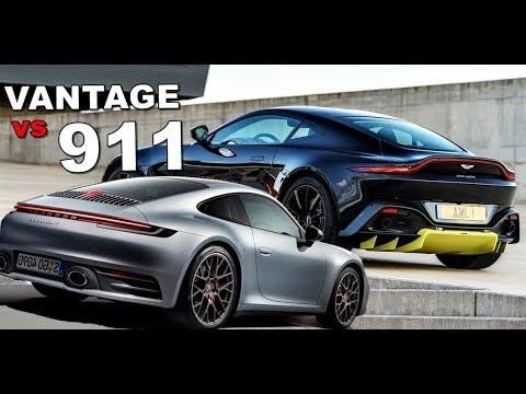 2019 Porsche 911 Vs Aston Martin Vantage Youtube