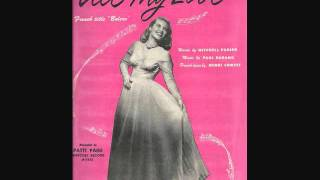 Patti Page - All My Love (Bolero) (1950) YouTube Videos