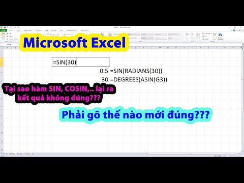 Tại sao thực hiện hàm SIN, COS trong Excel lại ra kết quả không đúng?? Thủ thuật Excel