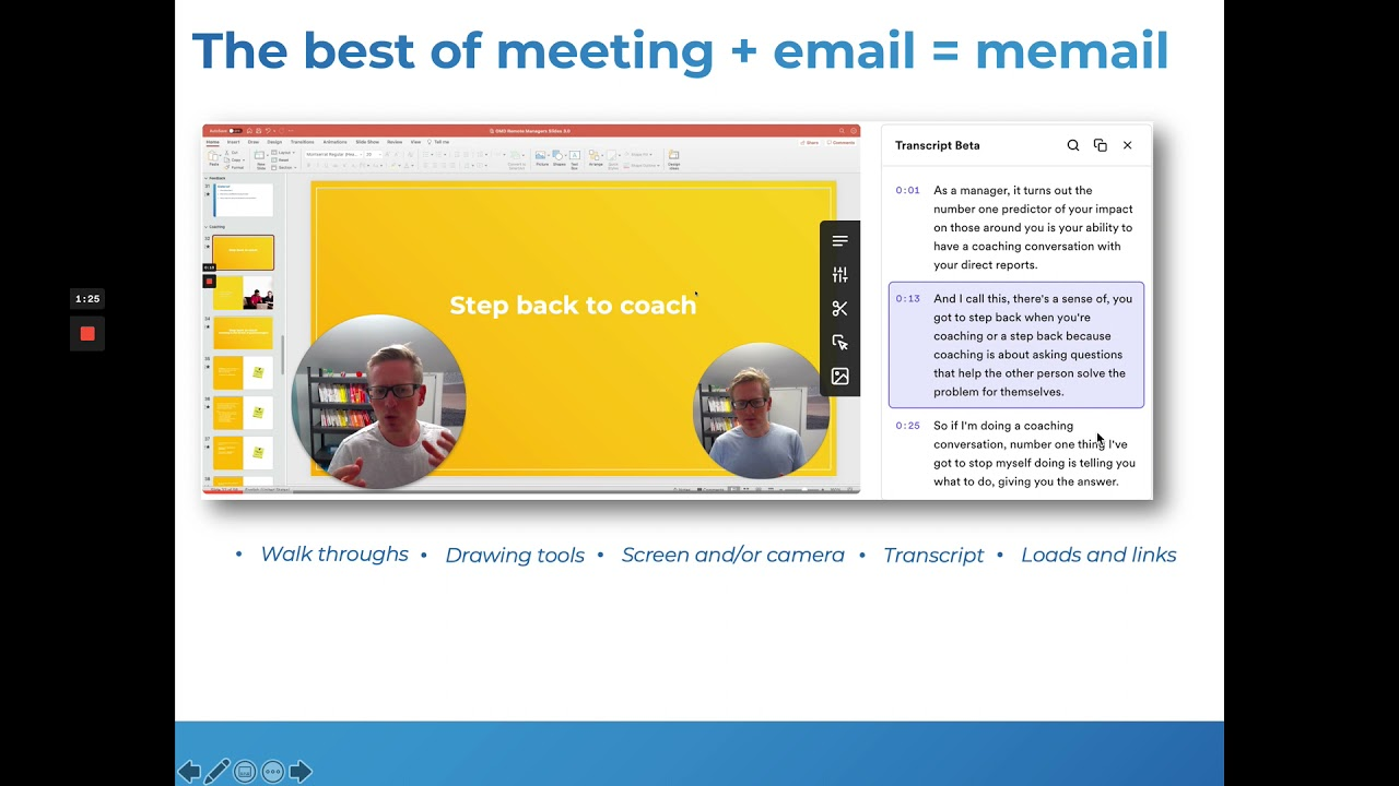 What's quicker than meetings and better than emails?