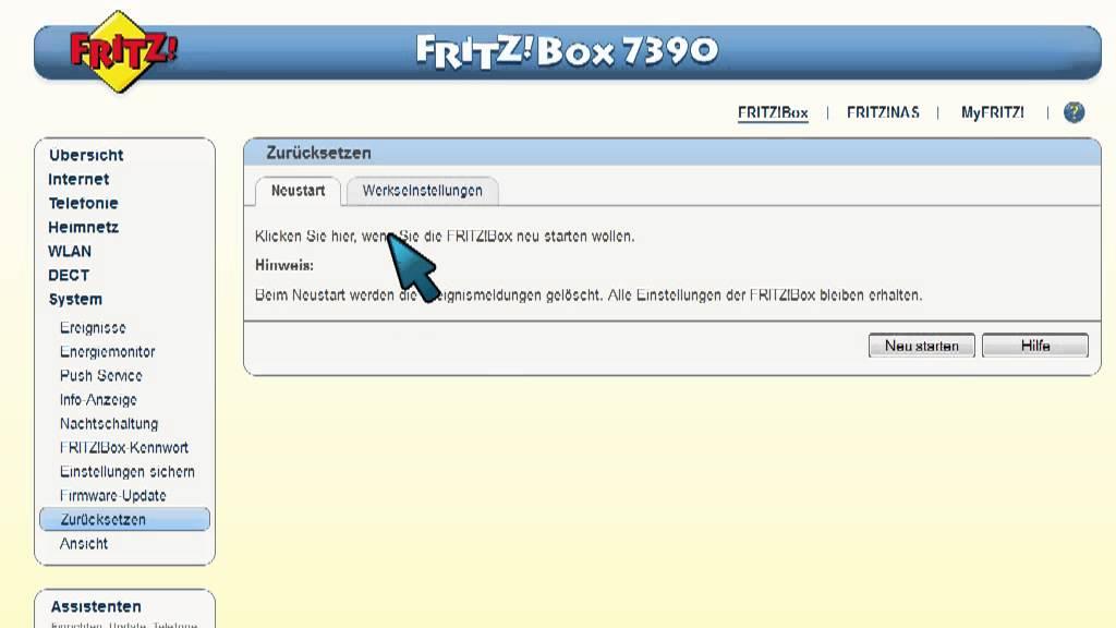 Fritz Box Zurücksetzen