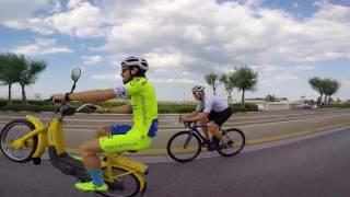 CIAO CIAO . Michael Guerra on Moped , Piaggio Ciao , presente alla Monferraglia . DAFNEFIXED