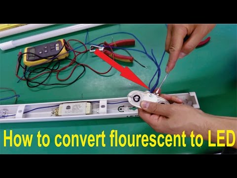 How to convert fluorescent light fitting (T8 or T12) for LED tubes: Step by step.