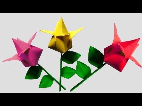 Origami flower tulip very easy youtube origami flower tulip very easy mightylinksfo