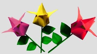 Origami Flower Tulip Very Easy